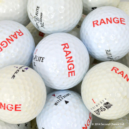 Range Stamped Golf Balls