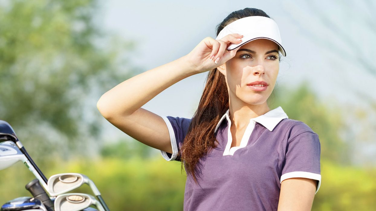 Driving Range Supplies Lady Golfer